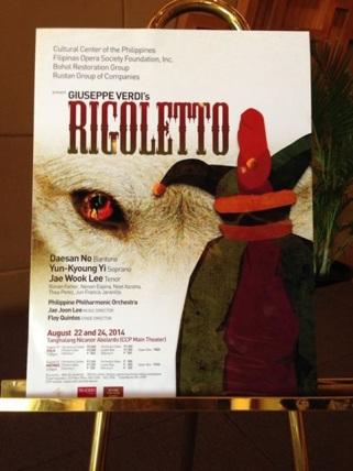 Rigoletto 2014 POSTER 18x24