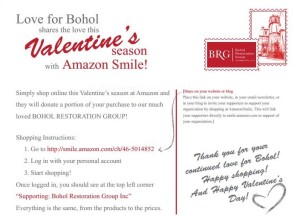 BRG - Love for Bohol AmazonSmile - Flyer